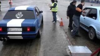 getlinkyoutube.com-Bmw E30 M5 turbo engine(BH 04 ARO) vs E30 M3 turbo engine