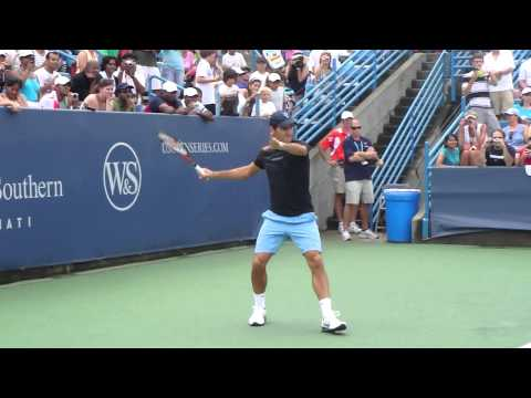Roger Federer practice at Cincinnati Open 2010 HD