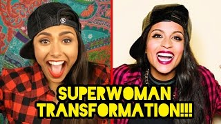TRANSFORMING INTO IISUPERWOMANII (LILLY SINGH)! | Michelle Khare Feat. Ami Desai