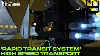 getlinkyoutube.com-Space Engineers - Rapid Transit System, High-Speed Train / Trolley