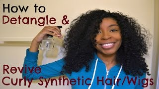 getlinkyoutube.com-How to Detangle & Revive Curly Synthetic Hair/Wigs