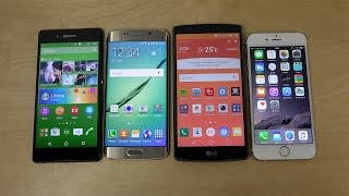 getlinkyoutube.com-Sony Xperia Z3+ vs. Samsung Galaxy S6 Edge vs. LG G4 vs. iPhone 6 - Internet Speed Test! (4K)