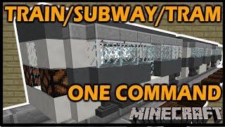 "getlinkyoutube.com-[1.8 Vanilla Minecraft] TRAIN / SUBWAY / TRAM - Modular ""One"" Command block"