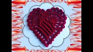 getlinkyoutube.com-How to Crochet a Heart Pattern #2  │ by ThePatterfamily