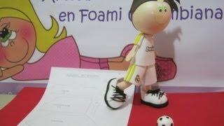 getlinkyoutube.com-FOFUCHO FUTBOLISTA REAL MADRID EN FOAMY CON PATRONES O MOLDES