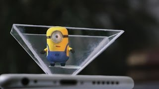 getlinkyoutube.com-Make your own 3d hologram projector using CD case & smartphone