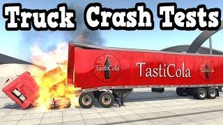 getlinkyoutube.com-BeamNG Drive - Truck Crash Tests