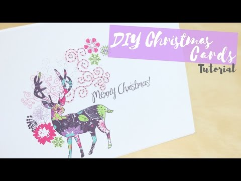 DIY: Custom christmas cards | Bella Coco ad