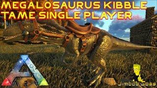 getlinkyoutube.com-ARK Megalosaurus kibble tame single player