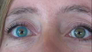 getlinkyoutube.com-Beautiful natural light green eyes with solotica azul hidrocor , JoLens
