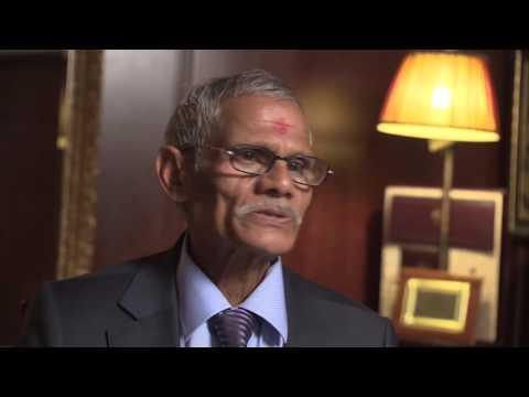Dr. Hari Singh Saini ( Sahajayogi )  Performing Acupressure Therapy 1