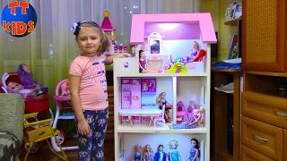 getlinkyoutube.com-Кукла Барби Делаем свет в Кукольном Доме для Барби Видео для детей Barbie Dolls