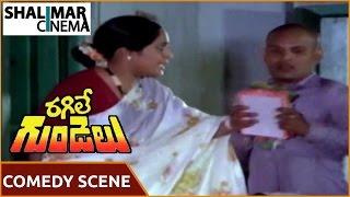 getlinkyoutube.com-Ragile Gundelu Movie || Padmanabham Wife Funny Comedy Funny Scene || Mohan Babu, Radhika