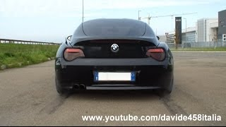 BMW Z4 from HELL: start up, revs, launch and on board! STRAIGHT PIPES!
