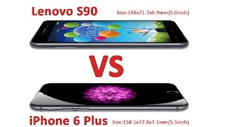 getlinkyoutube.com-Lenovo S90 VS iphone 6 plus test
