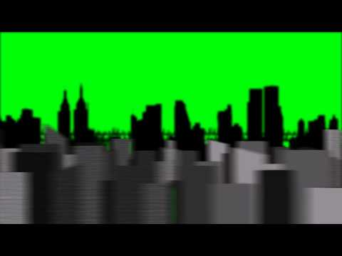 Flying Fast in City - Green Screen Animation