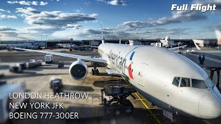 getlinkyoutube.com-American Airlines Boeing 777-300ER Full Flight: London to New York (AA107) (with ATC)