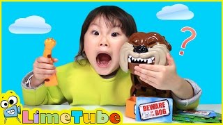 """라임이랑 아빠랑 """"쉿! 개조심"""" 두근두근 챌린지 불독 보드게임 장난감 놀이 Lime & Toy 라임튜브"""