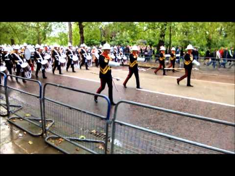 Massed Bands of H.M. Royal Marines 07-06-12 Birdcage Walk