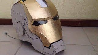 getlinkyoutube.com-Traje de Iron Man 100% cartón, actualización | casco motorizado | electrónica