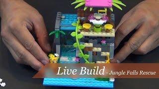 getlinkyoutube.com-Live Build- Lego Friends Jungle Falls Rescue Set #41033