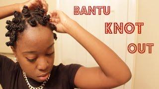 getlinkyoutube.com-NATURAL HAIR   Bantu Knot Out (1st Attempt)