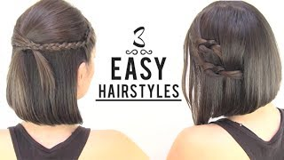 getlinkyoutube.com-EASY HAIRSTYLES FOR SHORT HAIR