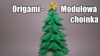 getlinkyoutube.com-Origami - Modułowa choinka