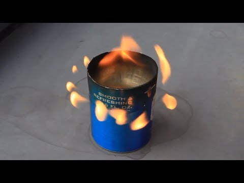 Alcohol Stove from a Beer Can -  Zombie Survival Tips