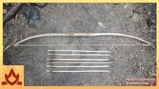 getlinkyoutube.com-Primitive Technology: Bow and Arrow