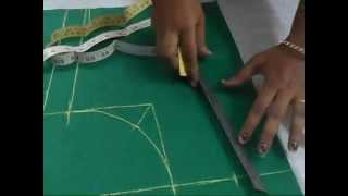 getlinkyoutube.com-Perfect Blouse Cutting With Measurement in English