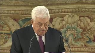 Palabras del presidente de Palestina, Mahmoud Abbas, en su visita a España