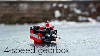 getlinkyoutube.com-Lego Technic 4-speed gearbox w/ instructions