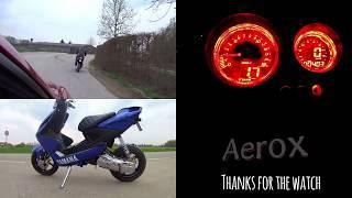 getlinkyoutube.com-Yamaha Aerox Koso GP Style Tacho einbauen