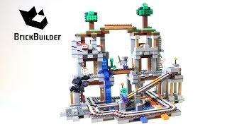 getlinkyoutube.com-Lego Minecraft 21118 The Mine - Lego Speed Build