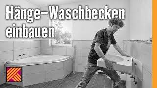 Waschbecken demontieren und neuen Waschtisch montieren