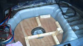 getlinkyoutube.com-Part 2 Rockford T2 15's Ported Box Build, Kinetik Battery rack install