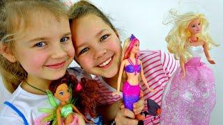 getlinkyoutube.com-БАРБИ - Распаковка Куклы. Русалка и мыльные пузыри. Ксюша, Настя устраивают Мыльное шоу