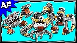 getlinkyoutube.com-Lego Mixels KLINKERS Series 5 Gox, Jinky, Kamzo Stop Motion Build Review 41536 41537 41538