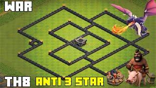 Clash Of Clans - BEST TH8 WAR BASE 2016 - [Helix] Anti 3 star!