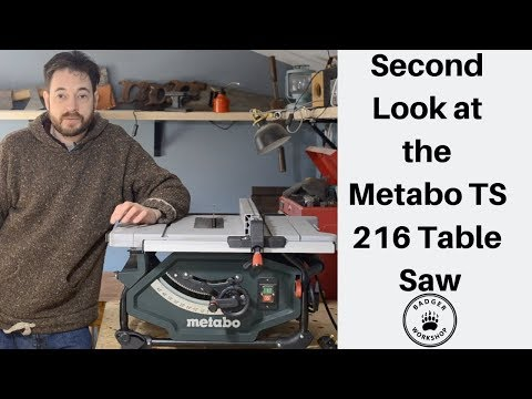 Review of the Metabo TS 216 Youtube Thumbnail