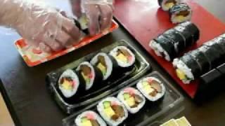 getlinkyoutube.com-太巻き寿司のつくり方。 売れてます!「椎茸太巻」