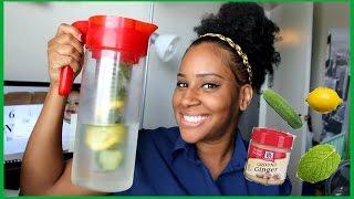 getlinkyoutube.com-How To Lose Weight In One Week With Water | DIY Detox Water ♥