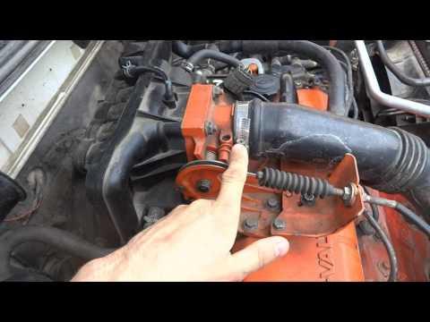 Регулировка троса акселератора на Mazda Demio