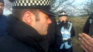 getlinkyoutube.com-Police beg for mercy at Barton Moss Part 1 of 3 12/12/13