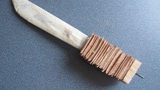 getlinkyoutube.com-How to make birch bark handle for a Laplander blade