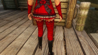 getlinkyoutube.com-Skyrim Mod Review 67 - Gwelda (Little) Red Riding Hood Outfit UNP - CBBE - Series: Boobs and Lubes