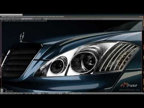 Blender Cycles in action - automotive rendering (GPU Mode)