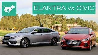 getlinkyoutube.com-2017 Hyundai Elantra Sport vs 2017 Honda Civic Turbo Comparison Review
