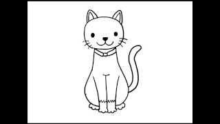 getlinkyoutube.com-สอนวาดรูป การ์ตูน แมว อย่างง่าย